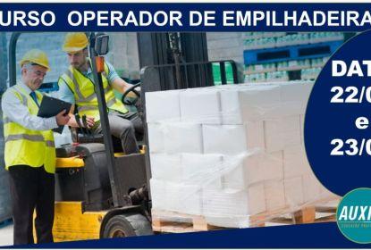 OPORTUNIDADE: INSCREVA-SE NO CURSO DE OPERADOR DE EMPILHADEIRA - VAGAS LIMITADAS