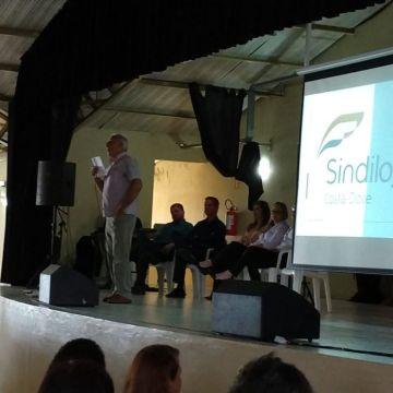 Sindilojas visita os funcionários públicos de Arambaré